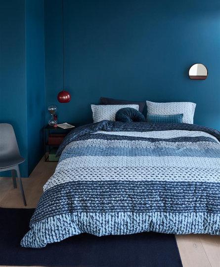 Beddinghouse dekbedovertrek Valdemar blauw