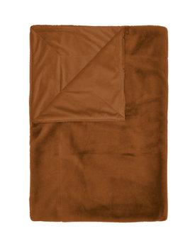 Essenza plaid Furry 150x200 leather-brown