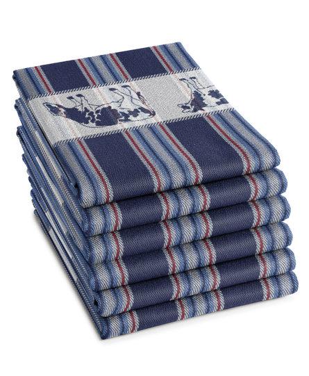 DDDDD theedoek Friesian blue 60x65 (per stuk)