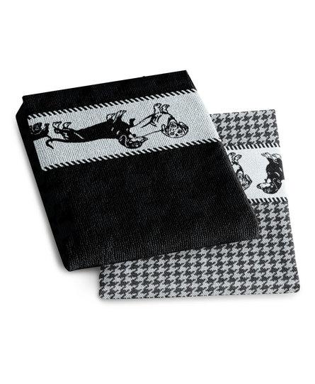 DDDDD keukendoek Saar zwart 50x55 (per stuk)