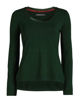 Essenza top Luyza uni dark-green