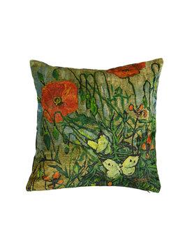Beddinghouse x Van Gogh sierkussen Coquelicot groen 45x45