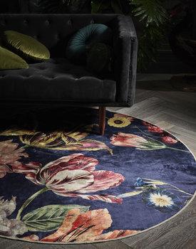 Essenza karpet Filou rond dark-blue