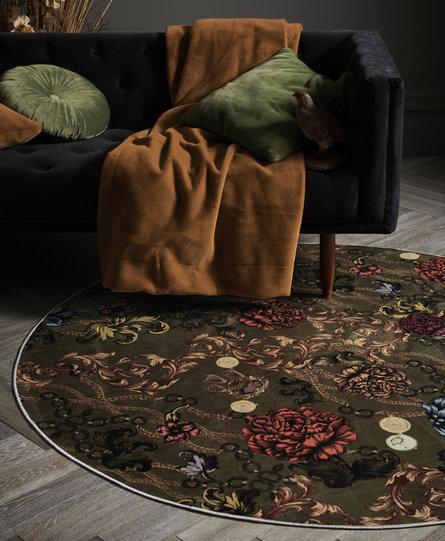 Essenza karpet rond Valente olive