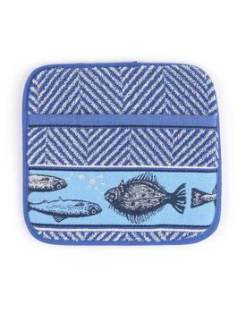 Bunzlau Castle pannenlap Fish Royal blue