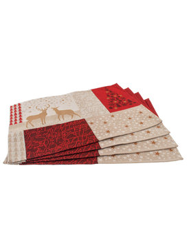 Sander placemat X-mas tales rood