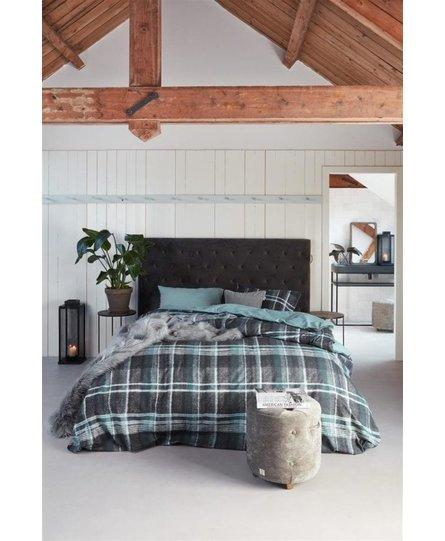 Riviera Maison dekbedovertrek Tartan Tweed blue