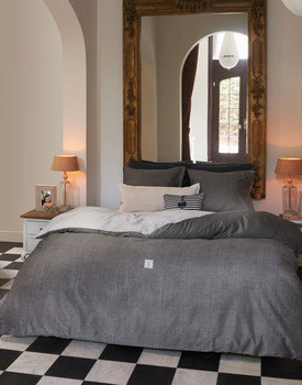 Riviera Maison dekbedovertrek Coughton Court anthracite