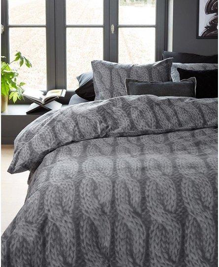 Beddinghouse dekbedovertrek Flanel Lano grey
