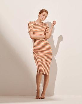 Essenza nachthemd Oprah stripe leather-brown