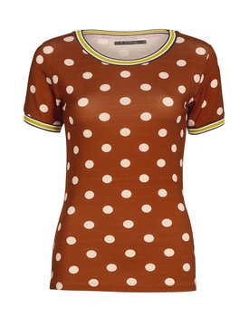 Essenza top Ziva dot leather-brown