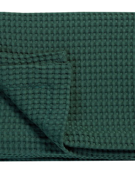 Vandyck wafeldeken dark green