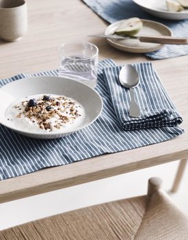 Marc O' Polo placemat Tentstra 33x45 smoke-blue