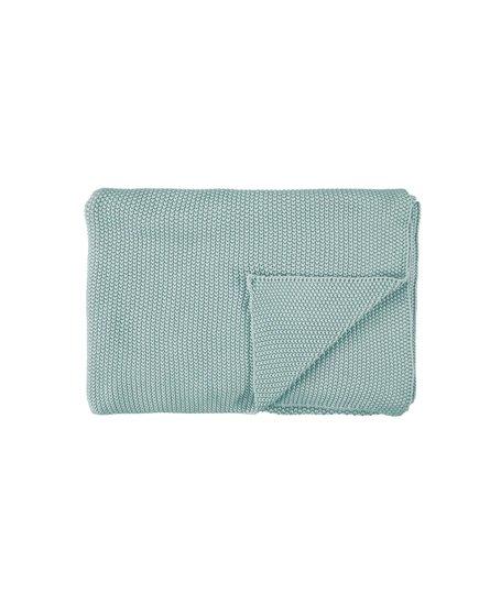 Marc O' Polo plaid Nordic knit 130x170 soft-green