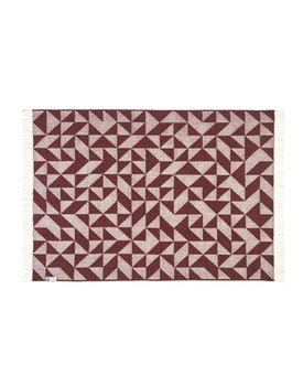Silkeborg wollen deken Twist a Twill 130x190 burgundy-bordeaux-1152