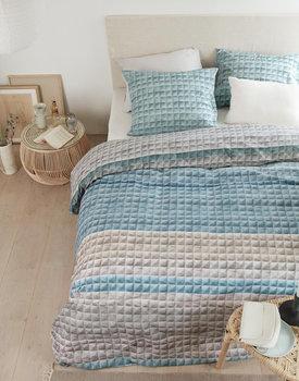 Ariadne at Home dekbedovertrek Quilted Squares blauw