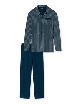 Schiesser herenpyjama 169880 lang blauw