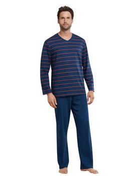 Schiesser Pyjama 159622 heren blauw/rood