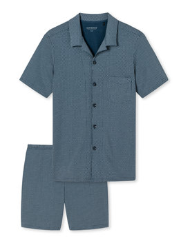 Schiesser herenpyjama 169699 kort donkerblauw