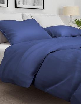 Zo Home! dekbedovertrek Satinado navy-blue