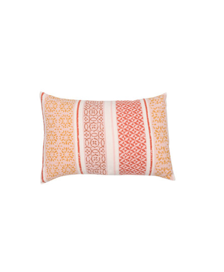 David Fussenegger sierkussenhoes Silvretta 'small pattern bordure' 40x60 terracotta