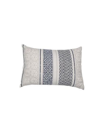 David Fussenegger sierkussenhoes Silvretta 'small pattern bordure' 40x60 grey