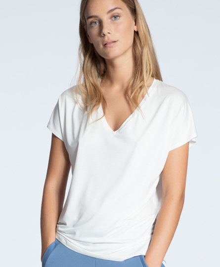 Calida dames pyjamatop kort 14337 wit 910
