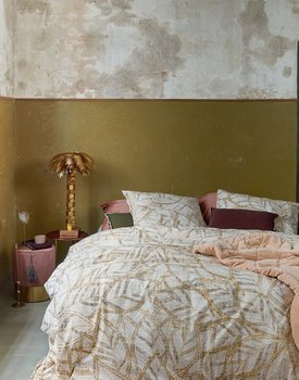 At Home By Beddinghouse Dekbedovertrek Autumn Leaf Gold