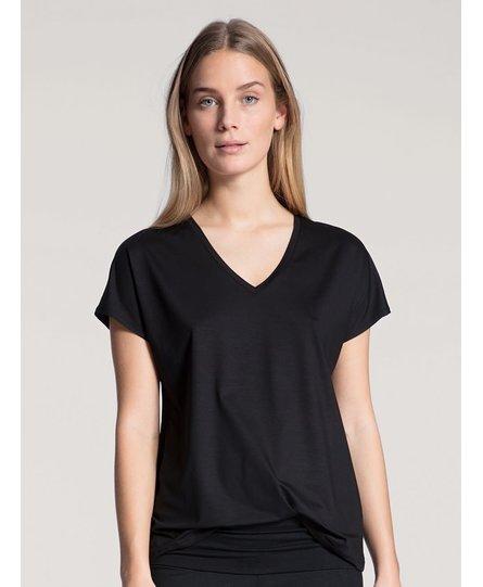 Calida dames pyjamatop kort 14337 zwart 992