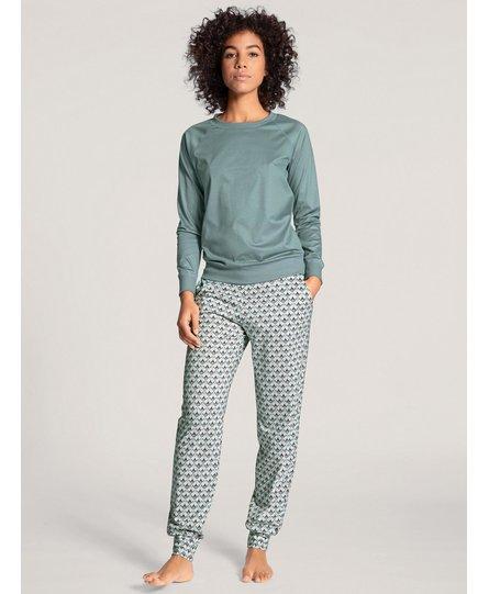 Calida dames pyjamabroek lang 29292 eucalyptus 556