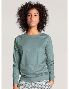 Calida dames pyjamatop lang 15035 eucalyptus 556