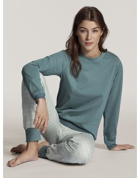 Calida dames pyjama 40831 eucalyptus 556