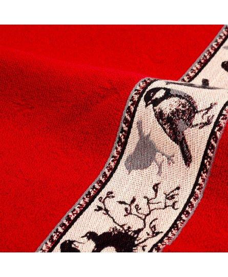 Bunzlau Castle keukendoek Birds red