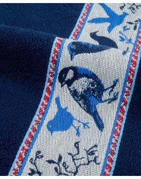 Bunzlau Castle keukendoek Birds dark blue