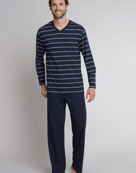 Schiesser Pyjama 159622 heren donkerblauw