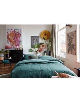 At Home by BeddingHouse Tender Dekbedovertrek - Blauwgroen