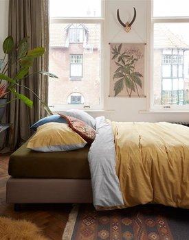 At Home by BeddingHouse All Lines Dekbedovertrek - Oker