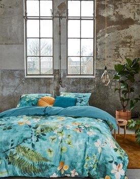 Beddinghouse Morning Whisper Dekbedovertrek - Blauwgroen