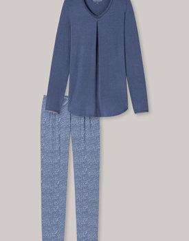 Schiesser pyjama dames 171664 blauw