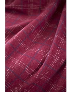 David Fussenegger plaid SYLT flanel karo bordeaux 140x200