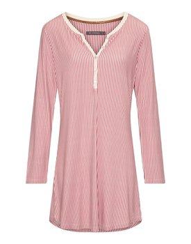 Essenza Acacia Striped Nightdress long sleeve – Rabarber