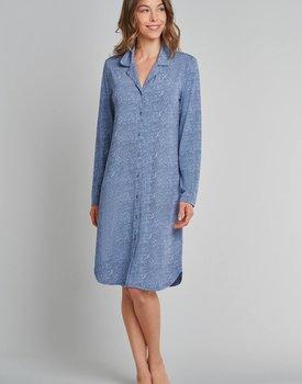 Schiesser nachthemd 172865 dames jeansblauw