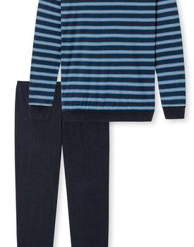 Schiesser Pyjama 171960 heren donkerblauw
