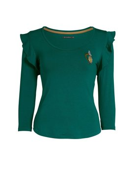 Essenza Mula Uni Top 3/4 sleeve Emerald