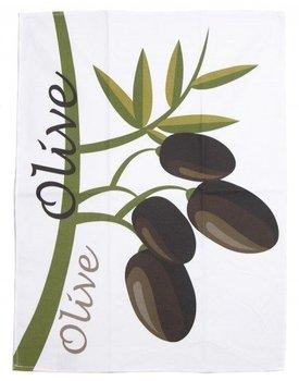 Stuco Trends Textiles Olive Bedruckt Theedoek