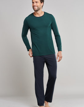Schiesser heren pyjama 171415 dark green