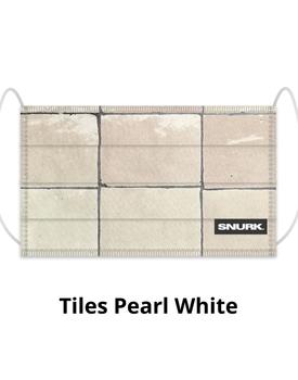 Snurk Mondkapje Tiles Pearl White