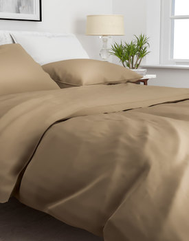 Zo!Home Satinado Dekbedovertrek Praline Brown