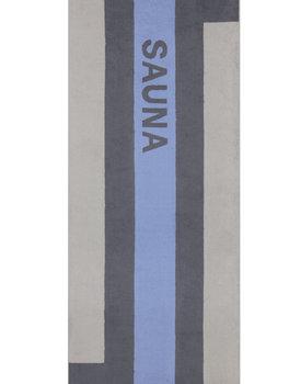 Cawö Saunahanddoek strepen  80x200 blauw