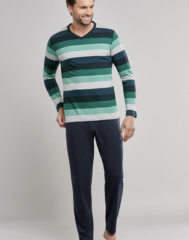 Schiesser heren pyjama 171380-700 groen